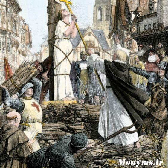 ژان دارک - Joan-of-Arc-burned-at-the-stake
